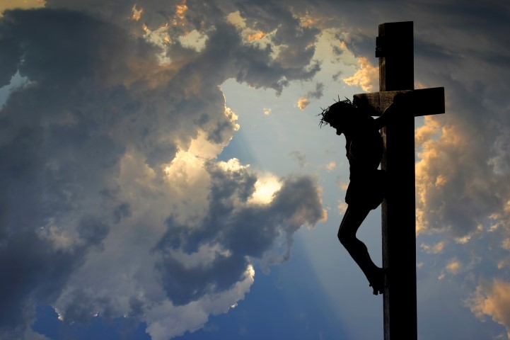 Jesus suffers death on the cross
