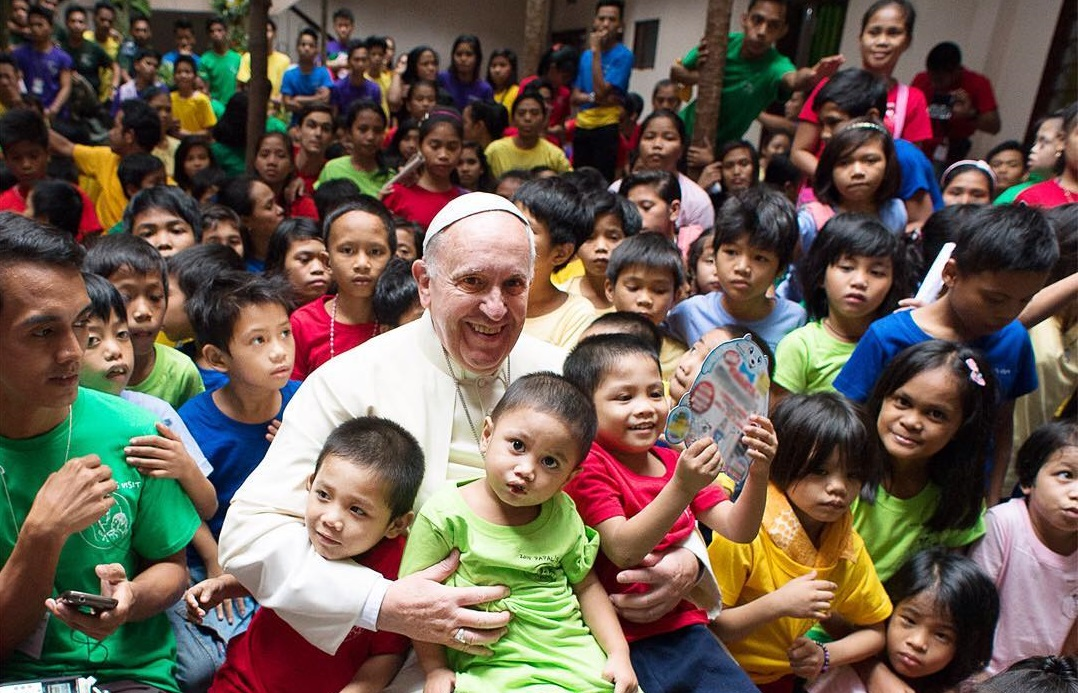 Pope Francis with the poor