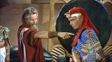 Moses confronts Pharaoh
