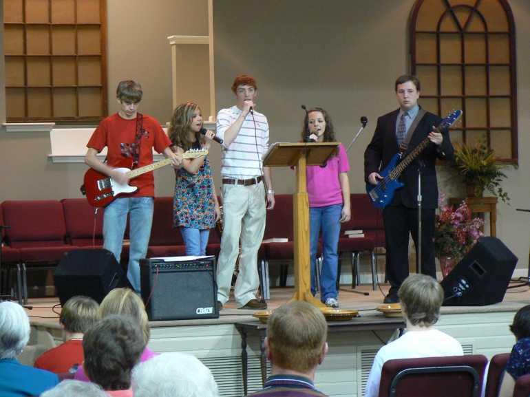 A worship praise band