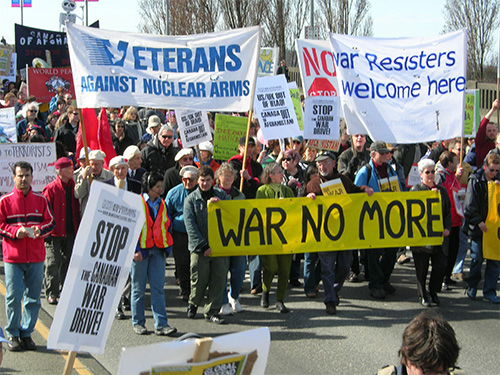 peaceful antiwar protest